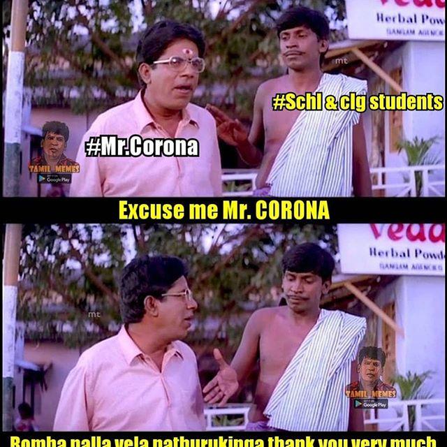 Corona Memes Vijiravindran S